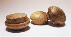 "Picture of 1/2"" Diameter Walnut Mushroom Buttons"