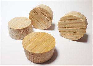 "Picture of 1/2"" Diameter, Oak Side/Face Grain Plugs"