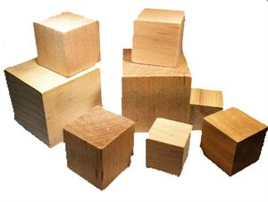 """Picture of 2"""" Blocks/Cubes Smooth Maple"""